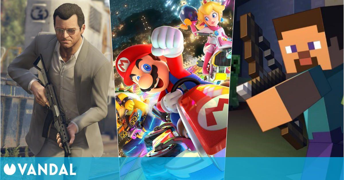 Mario Kart, GTA 5 y Minecraft coronan la lista de ventas de Reino Unido esta semana