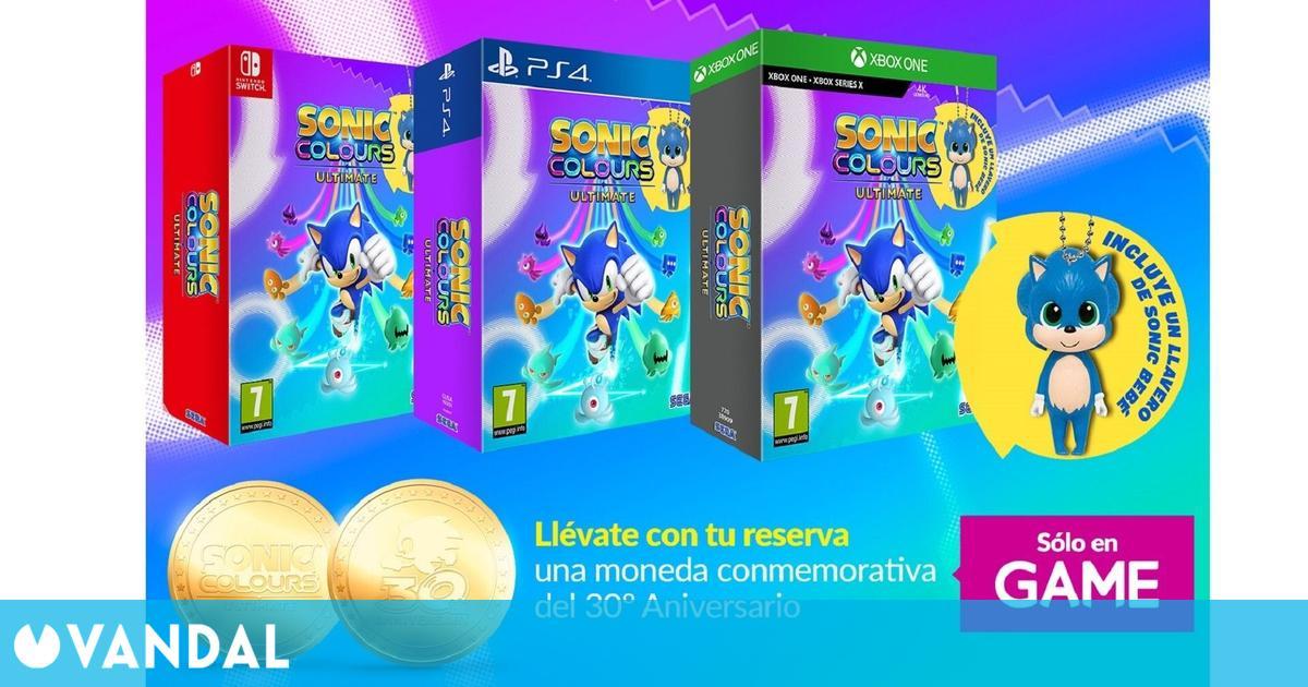 GAME detalla los incentivos por la reserva de Sonic Colours: Ultimate
