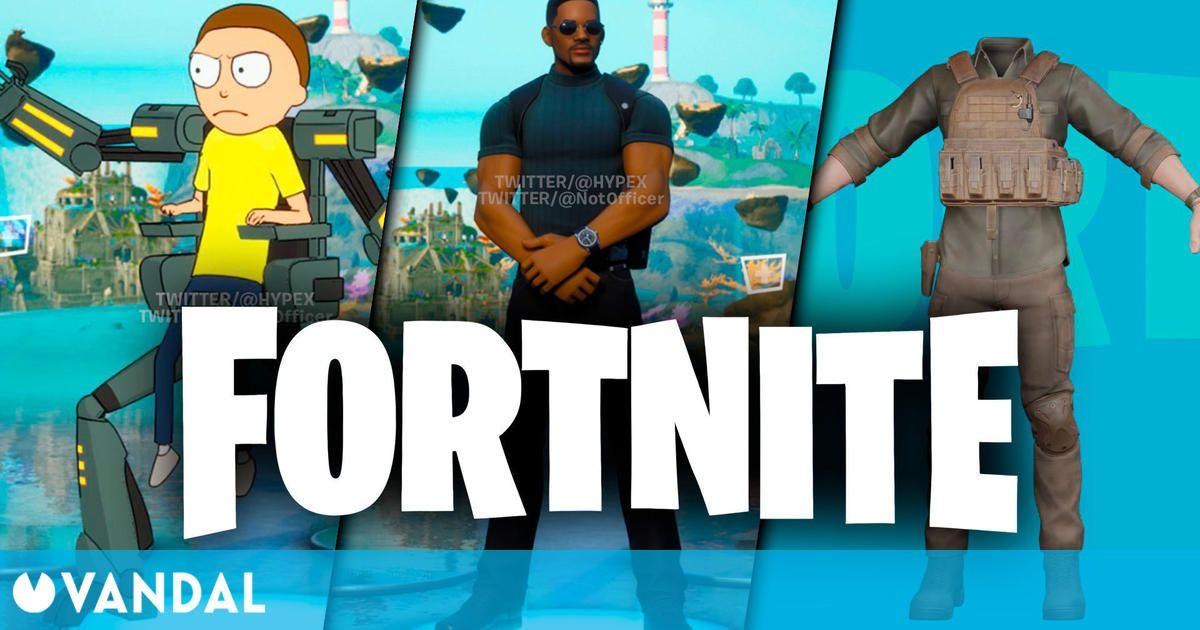 Fortnite recibirá skins de Will Smith, Morty y Chris Hemsworth, según estas filtraciones