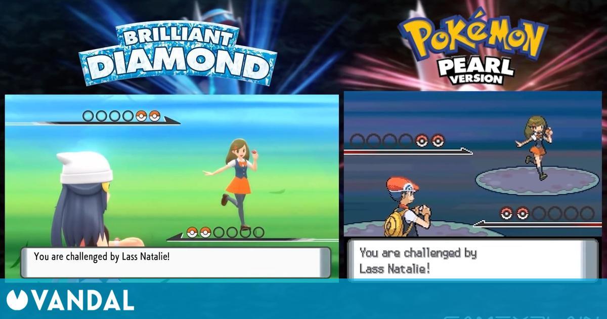 Pokémon Diamante Brillante / Perla Reluciente se lucen en una comparativa con los originales