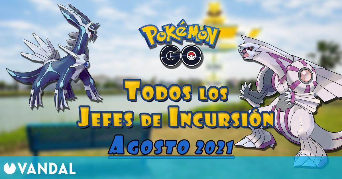 Pokémon GO: Todos los jefes de incursión de Agosto 2021 (nivel 1, 3, 5 y Mega)