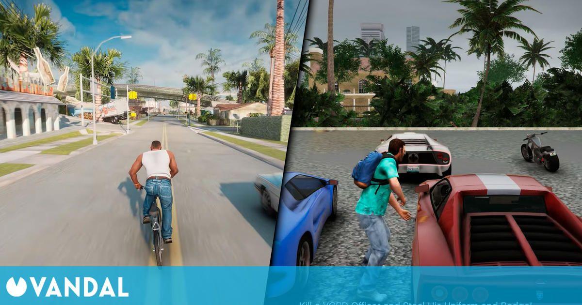 Así de espectaculares son GTA San Andreas y GTA Vice City remasterizados en el motor de GTA 5