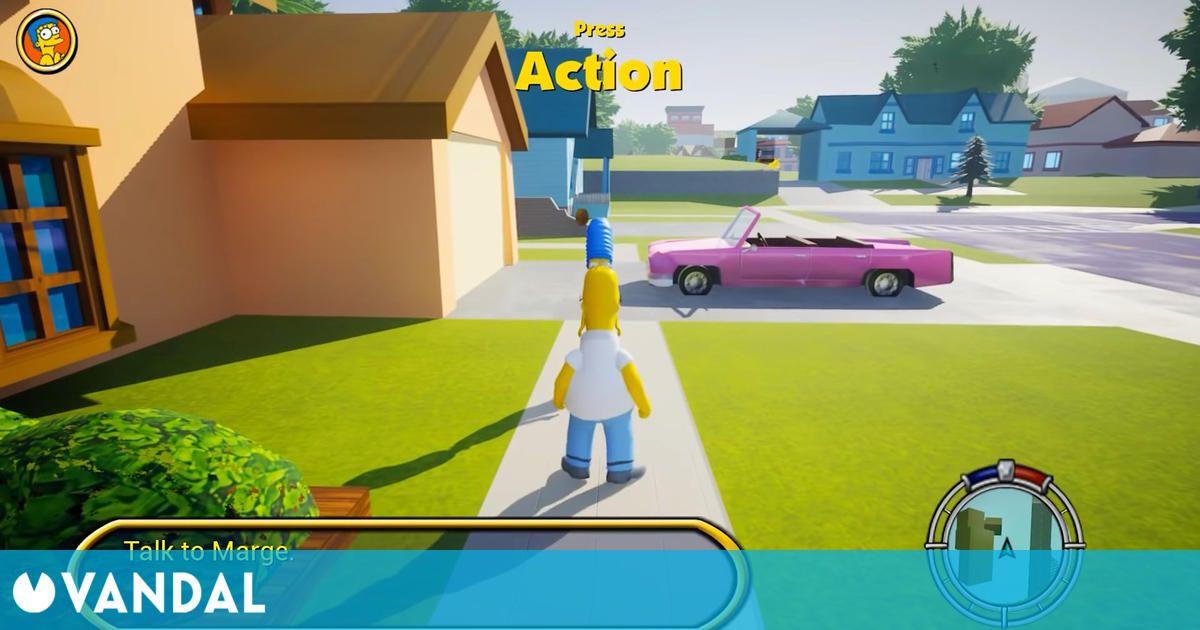The Simpsons Hit & Run, remasterizado con Unreal Engine 5 gracias a un 'modder'