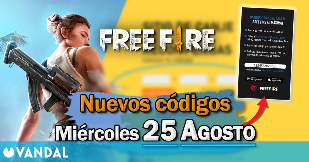 Free Fire: Códigos para hoy miércoles 25 de agosto de 2021 – Recompensas gratis