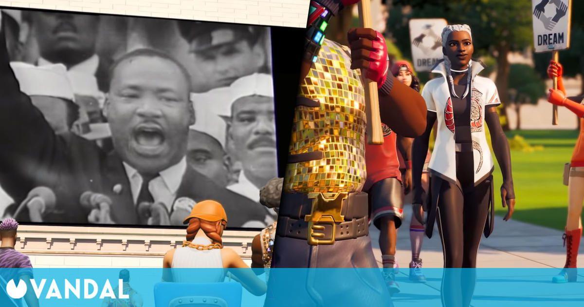 Fortnite homenajea a Martin Luther King con una experiencia interactiva