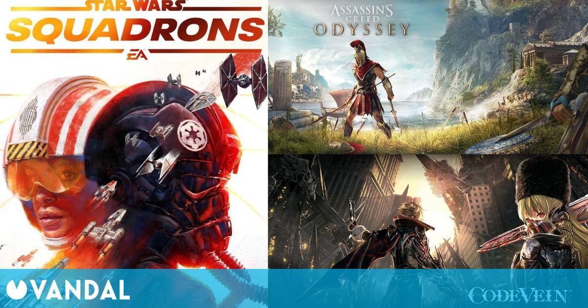 Mejores ofertas de Steam este fin de semana: Code Vein, Star Wars Squadrons, AC Odyssey…