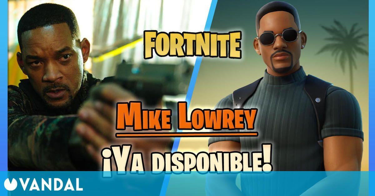 Así es la skin de Will Smith en Fortnite: Mike Lowrey de Bad Boys ya disponible