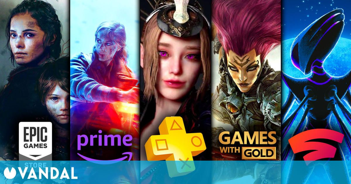 Juegos gratis de agosto en PS Plus, Xbox Gold, Epic Games, Prime Gaming y Stadia Pro