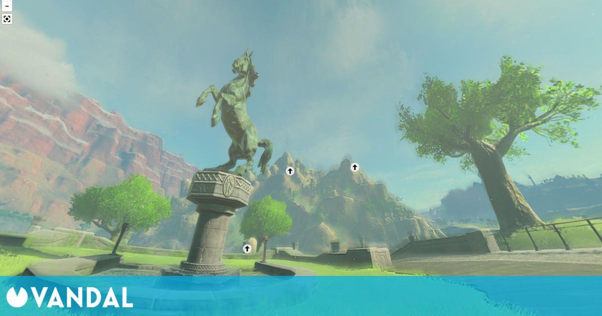 Zelda: Breath of the Wild presenta un increíble 'Street View' al estilo Google Maps