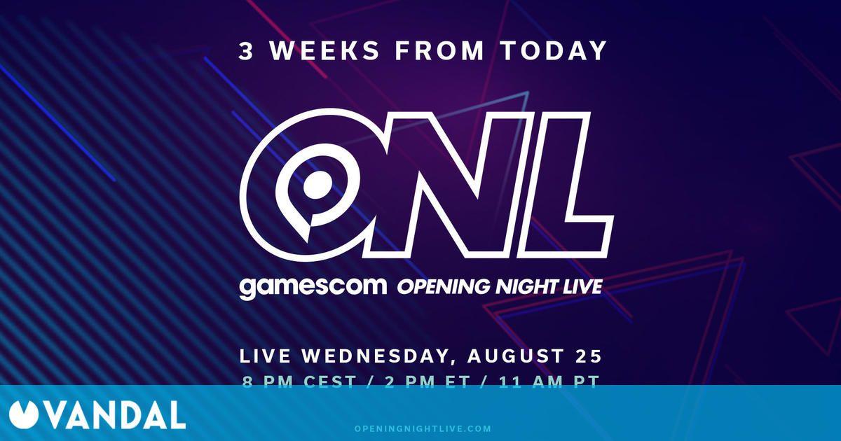 La gala inicial de Gamescom 2021 repasará en dos horas las novedades de este año y 2022