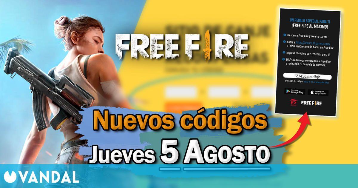 Free Fire: Códigos para hoy jueves 5 de agosto de 2021 – Recompensas gratis