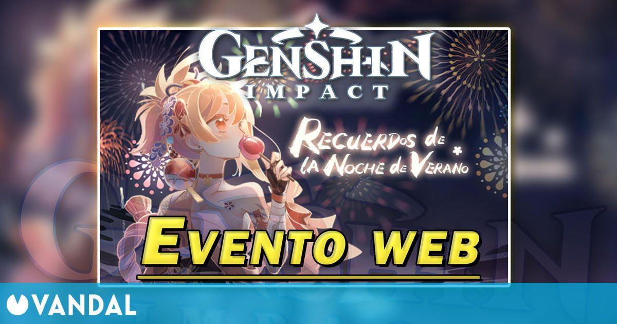 Genshin Impact: Gana Protogemas en el evento web Recuerdos de la Noche de Verano