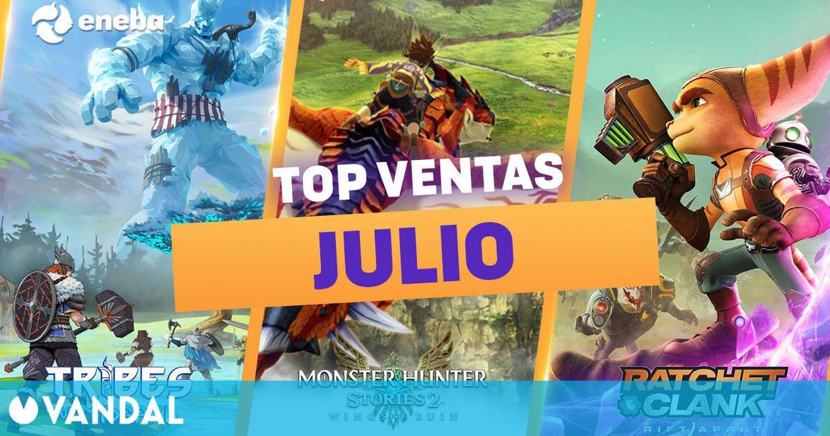Los juegos más vendidos de julio en Eneba