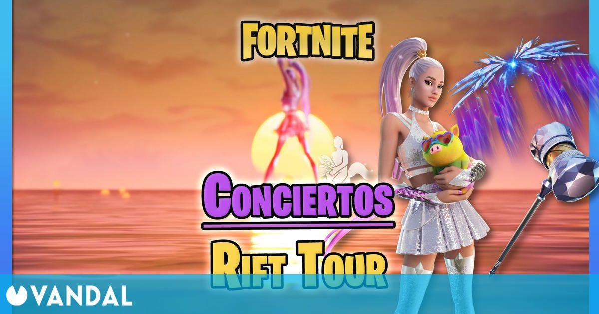 Fortnite: Conciertos de Ariana Grande en Rift Tour – Fechas, horas y cómo verlos