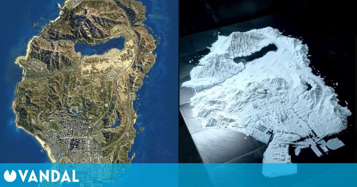Artista recrea el mapa de Los Santos de GTA 5 impreso en 3D tras dedicar más de 400 horas