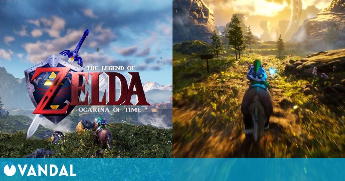 The Legend of Zelda: Ocarina of Time recreado en un impactante remake con Unreal Engine