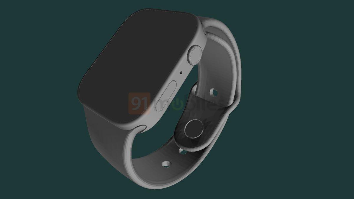 Filtran el diseño del nuevo Apple Watch con bordes rectos y una pantalla más grande