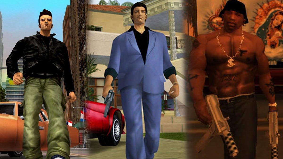 trilogía remasterizada de Grand Theft Auto llegará este año