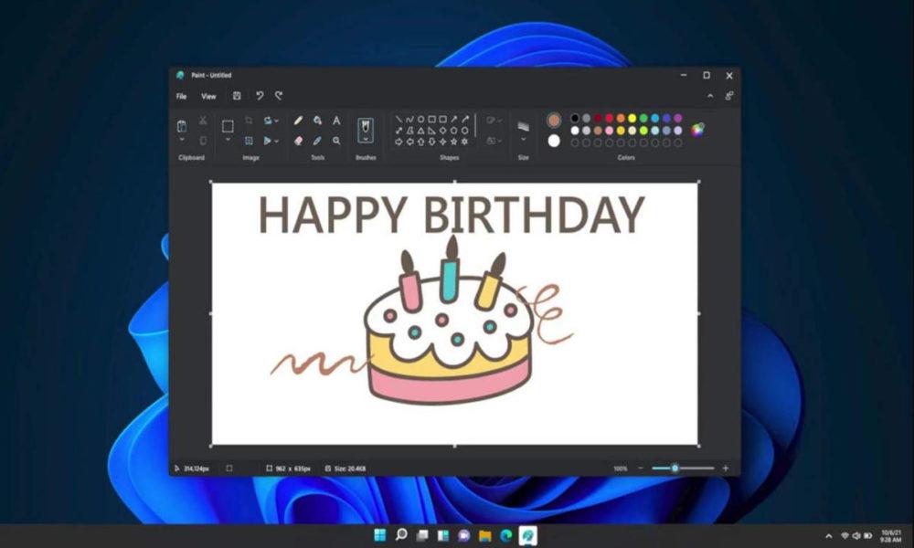 Panay muestra el nuevo Paint de Windows 11