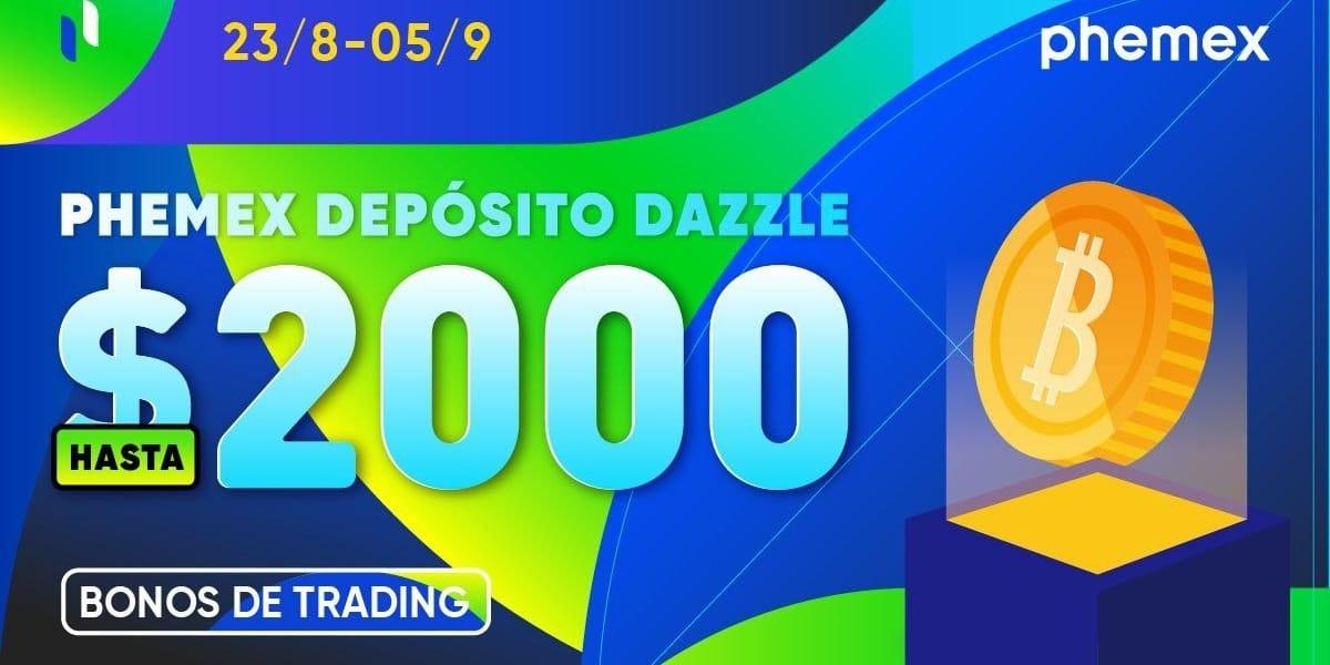 Gana hasta 2.000 dólares en BTC en el evento Depósito Dazzle de Phemex