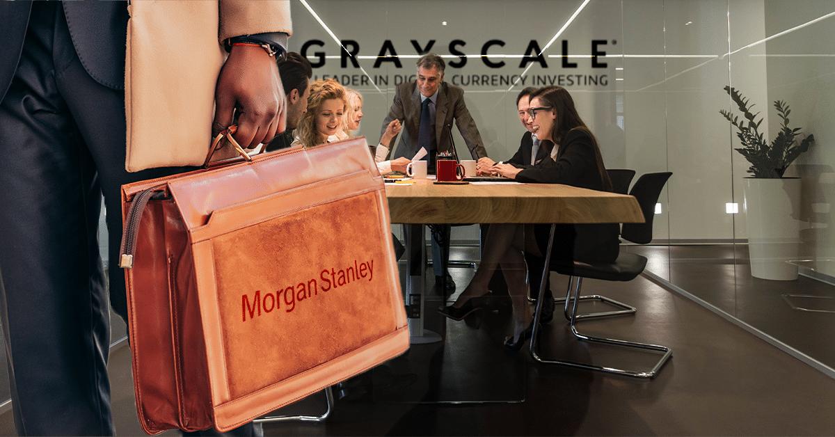 Morgan Stanley sube la apuesta con bitcoin e invierte más de USD 35 millones en Grayscale
