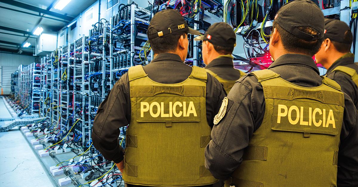 policía desmantela granja de minería de Bitcoin en Toledo