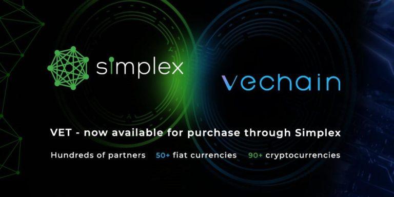 Simplex se asocia con VeChain para habilitar una rampa de entrada fiat sin interrupciones para el token VET
