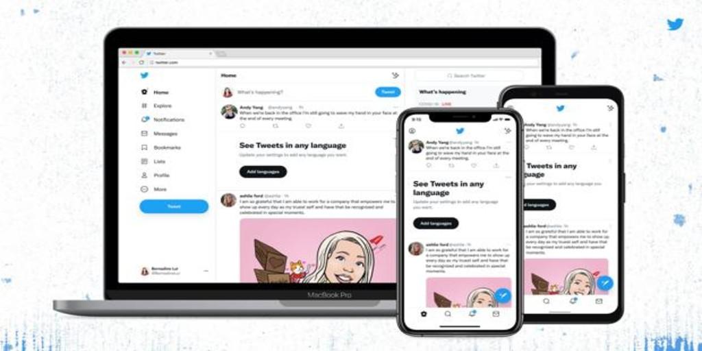 Twitter realiza cambios en la 'app' para que resulte más cómoda a la vista