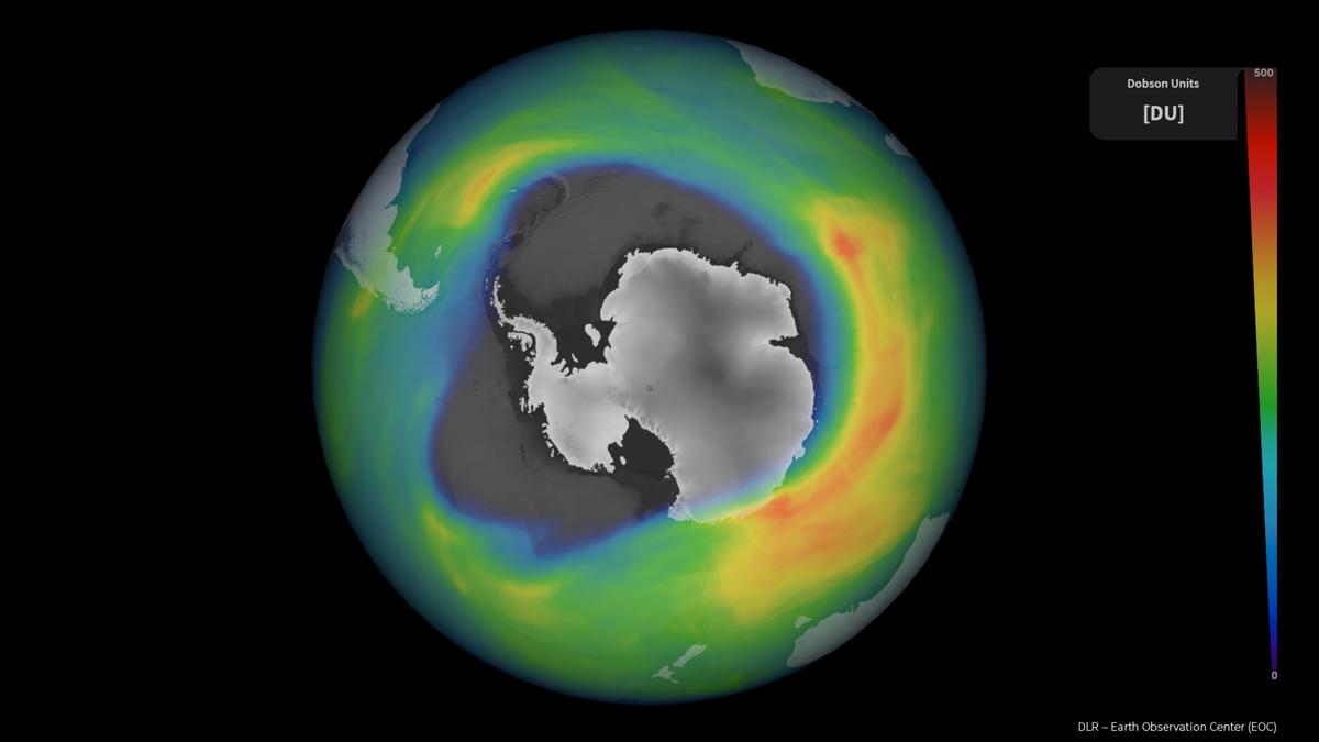 Hay un agujero del tamaño de la Antártida en la capa de ozono
