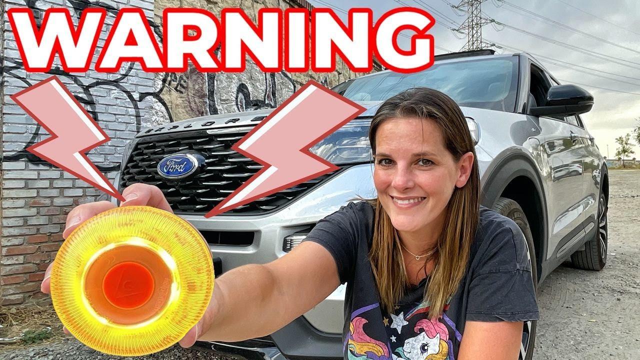 OJO cuidado! LUZ emergencia V16 + Ford EXPLORER