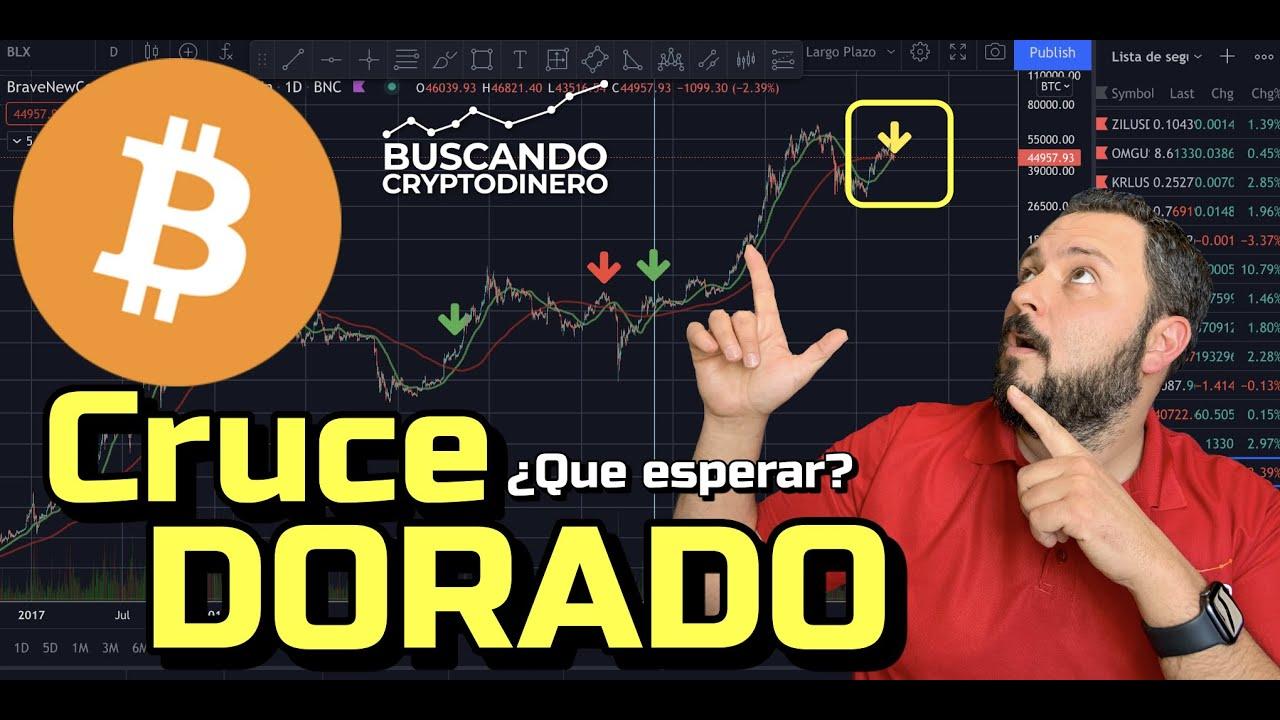 🙃Cruce Dorado en BITCOIN…  ¿Que esperar? + 6 monedas y Rifa de Litecoin !!