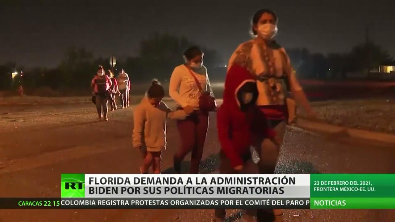 El estado de Florida demanda a la Administración Biden por sus políticas migratorias