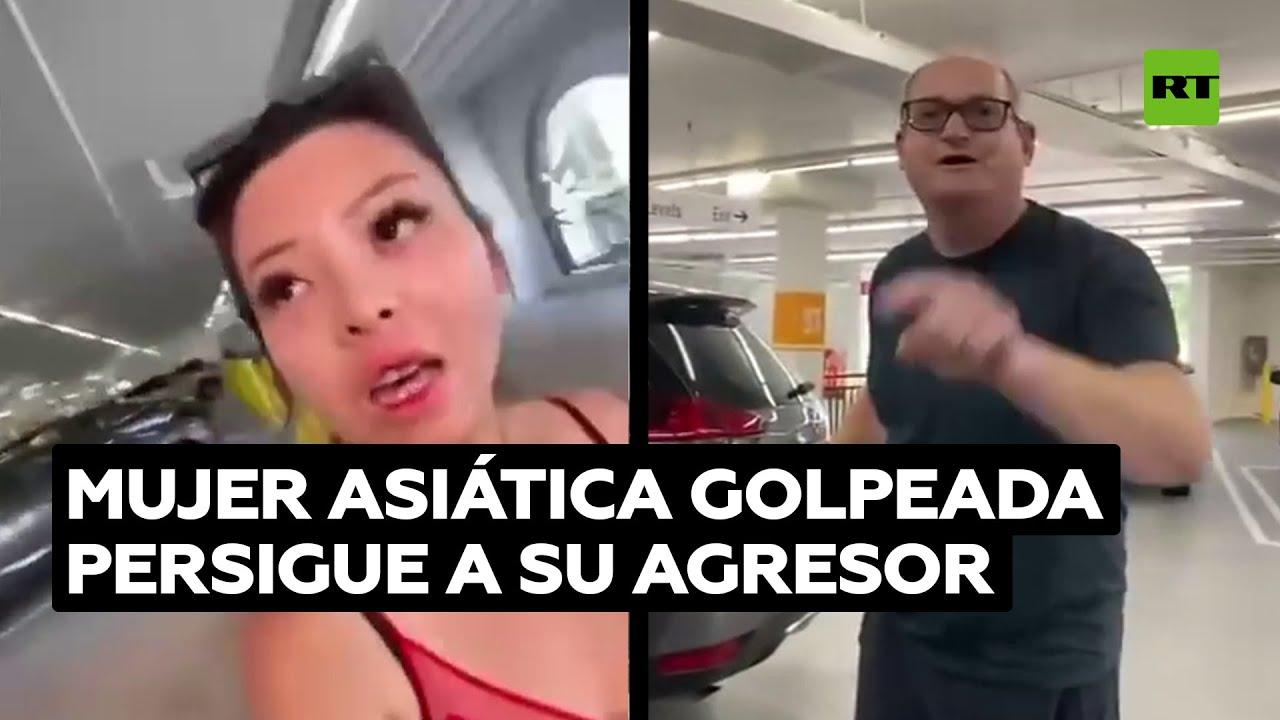 Golpea a una mujer asiática en la cara y luego escapa de ella acusándola de acoso
