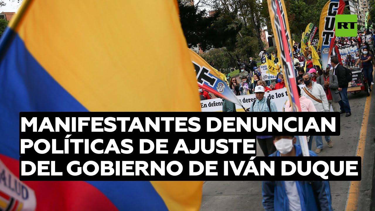 Colombia: Manifestantes denuncian políticas de ajuste del Gobierno de Iván Duque