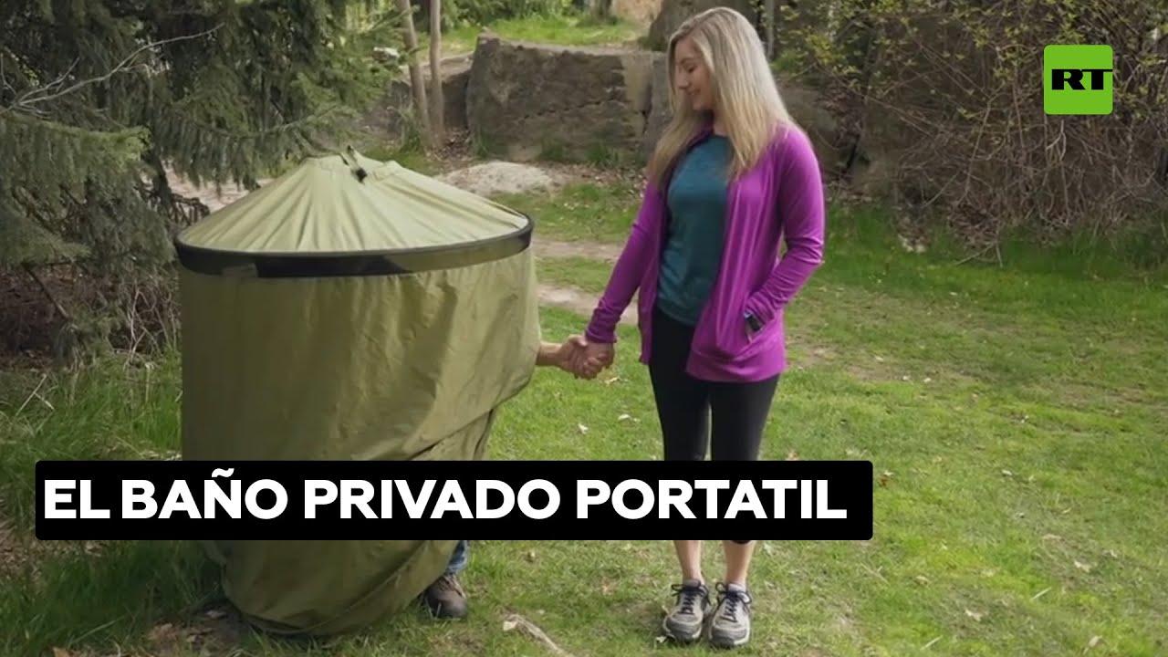 Un tienda de campaña que hace de baño portatil, ¿gran idea o gran ridículo? @RT Play en Español