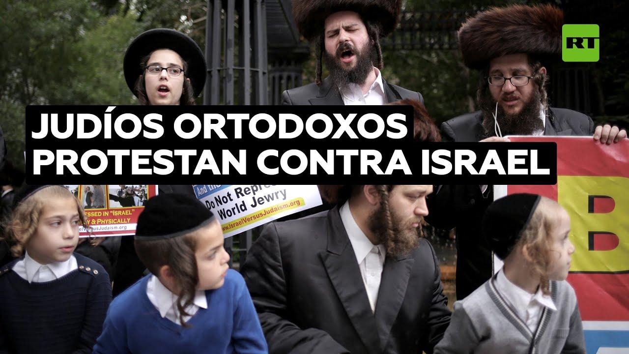Judíos ortodoxos protestan en Nueva York contra el Estado de Israel