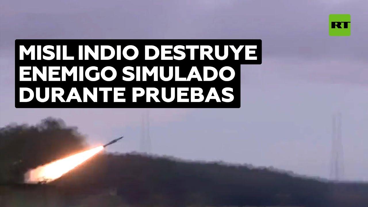 La India prueba su sistema de misiles antiaéreos mejorado