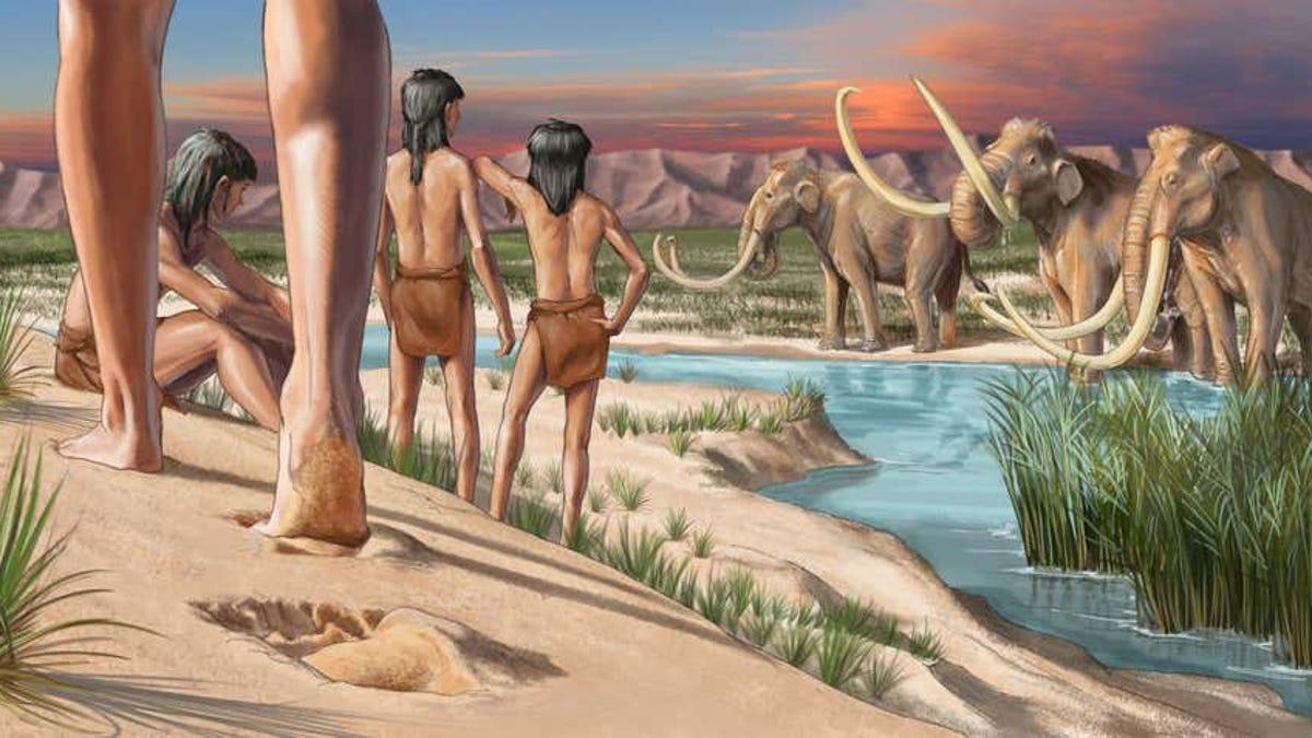 Las huellas humanas más antiguas de América del Norte