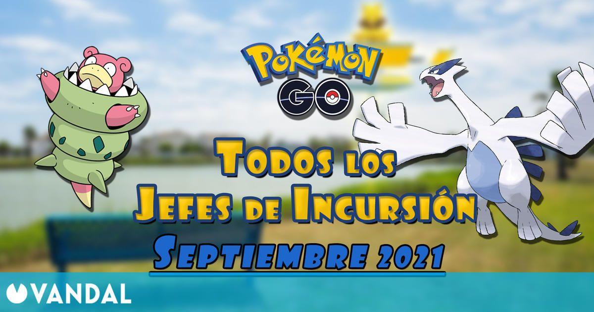 Pokémon GO: Todos los jefes de incursión de Septiembre 2021 (nivel 1, 3, 5 y Mega)