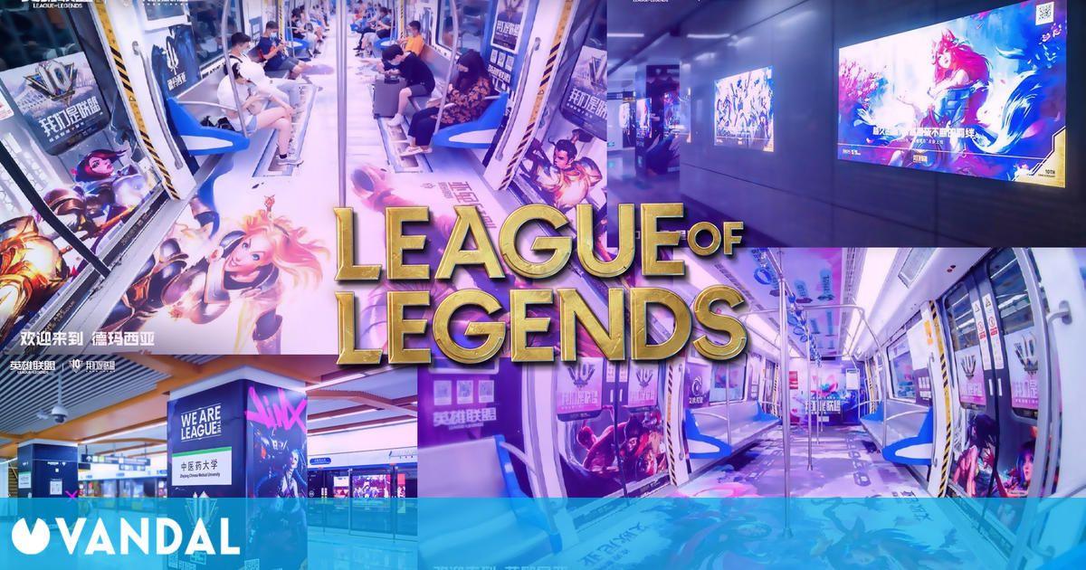 League of Legends cumple 10 años en China y lo celebran decorando sus trenes