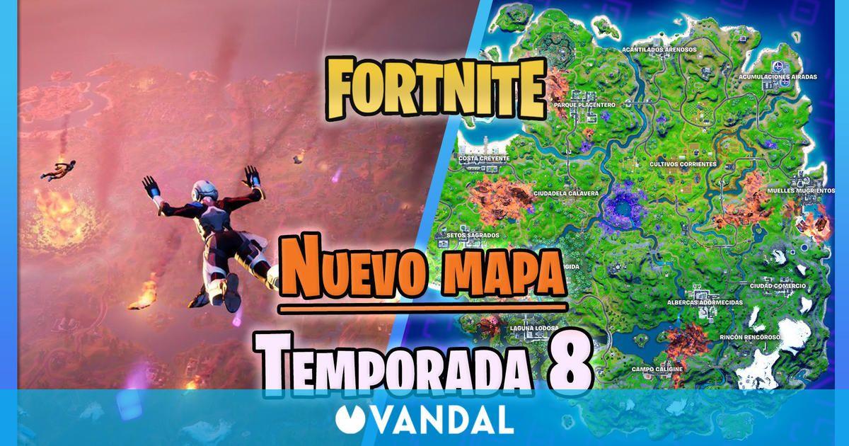 Fortnite – Temporada 8: Este es el nuevo mapa de la Isla, ahora invadida por cubos