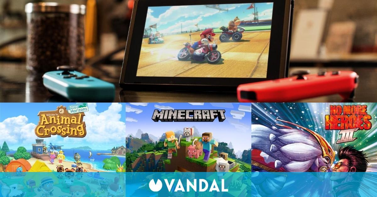 8 de los 10 juegos más vendidos en España en la última semana de agosto fueron de Switch
