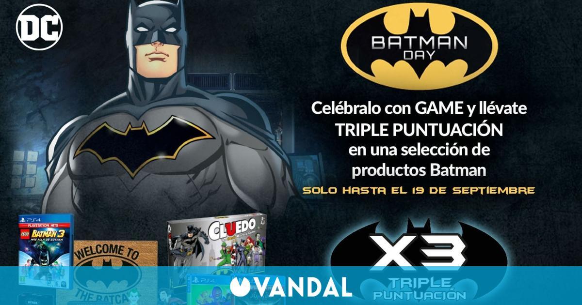 GAME celebra el Batman Day triplicando la puntuación de juegos y merchandising seleccionado