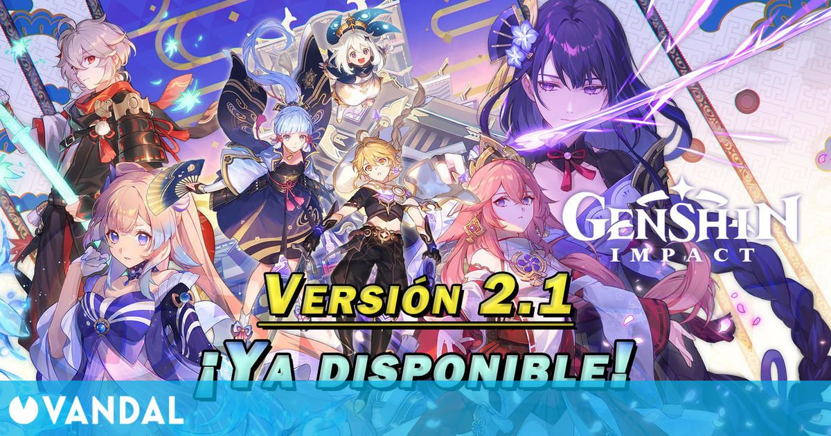 Genshin Impact v2.1 ya disponible: Nuevos personajes, islas de Inazuma, pesca y más