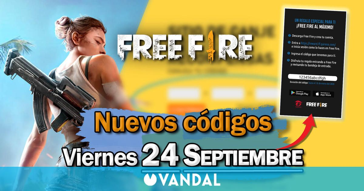 Free Fire: Códigos para hoy viernes 24 de septiembre de 2021 – Recompensas gratis