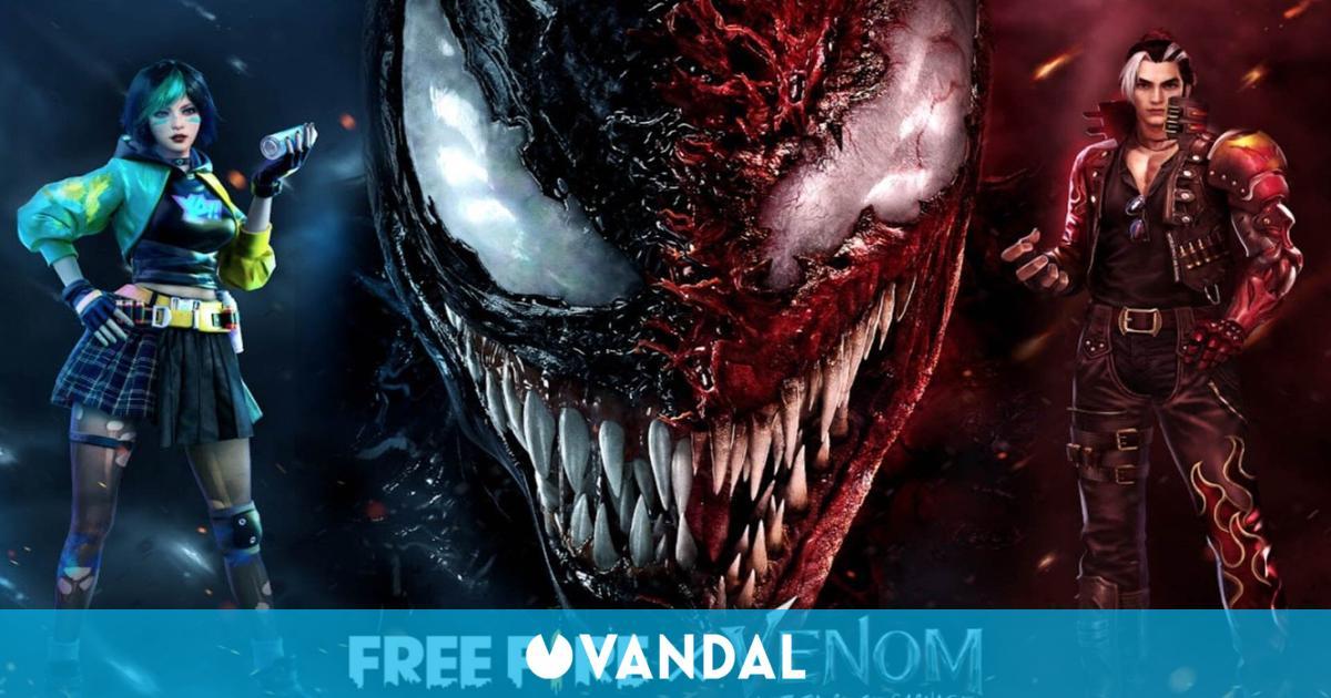 Free Fire arranca sus colaboraciones de cine con Venom: Habrá Matanza