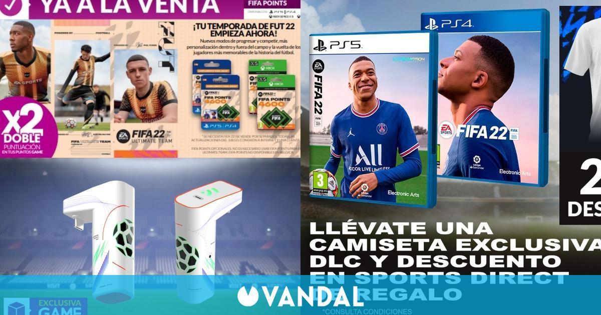 GAME celebra el lanzamiento de FIFA 22 con camiseta exclusiva, DLC, descuentos y más