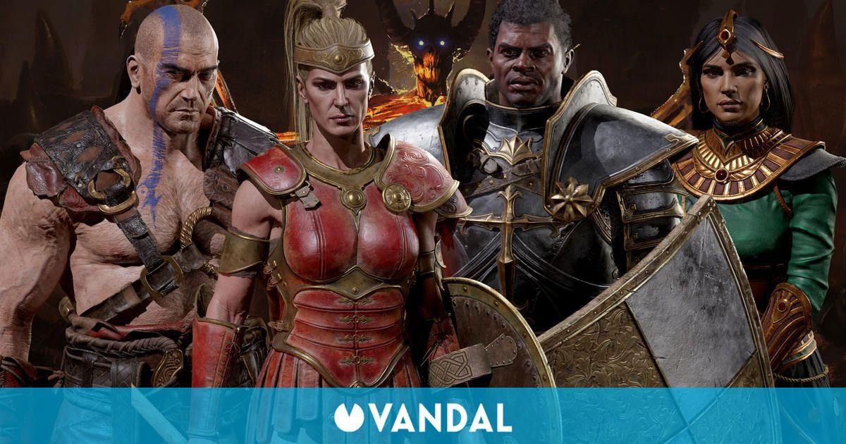 Diablo 2: Resurrected muestra las clases del Bárbaro, la Hechicera, el Paladín y la Amazona