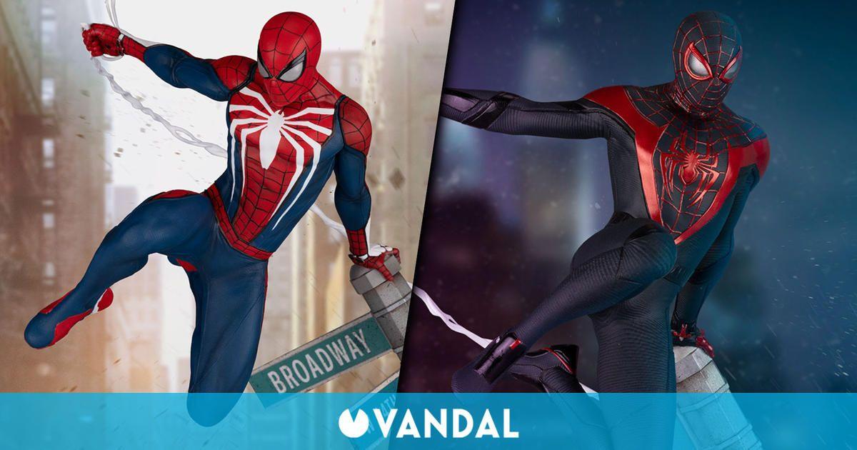 Estas impresionantes figuras de Spider-Man y Spider-Man: Miles Morales cuestan 450 dólares