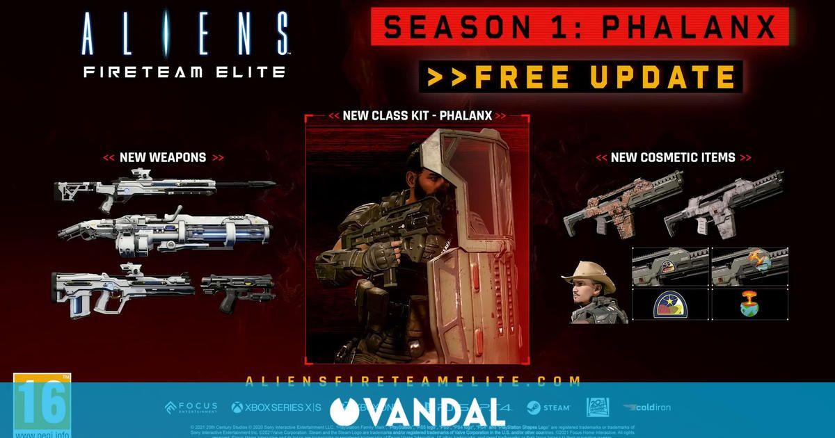 Aliens: Fireteam Elite da la bienvenida a su temporada 1 con los Phalanx